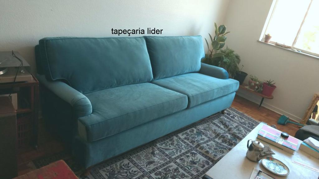 tapeçaria sofa azul tifany vintage