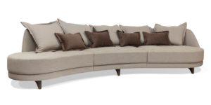 sofa sob medida em curvas