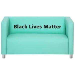 sofa estampa black lives matter